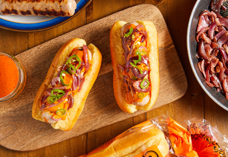 Hot n Fiery Sauce Halloween Hot Dogs