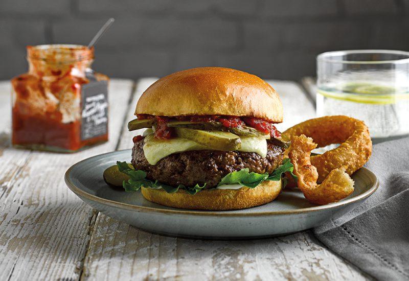 loaded brioche cheese burger