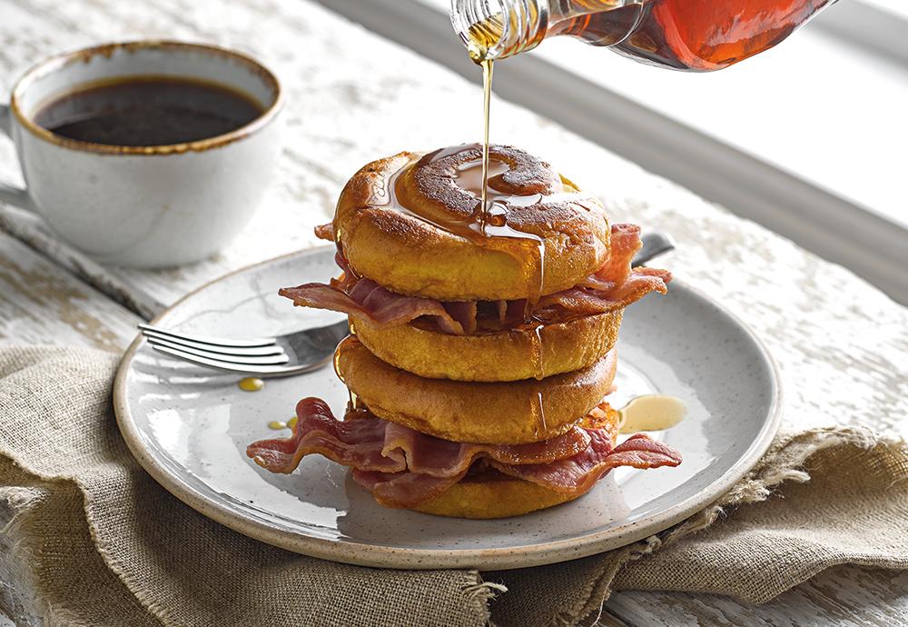 brioche swirl bacon and syrup