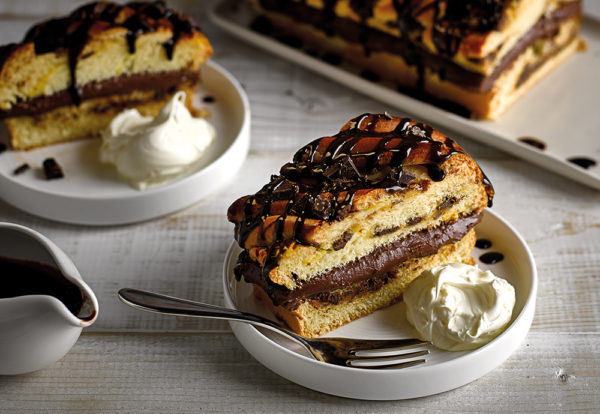 chocolate chip brioche to share