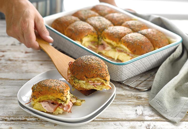 ham and cheese brioche sliders