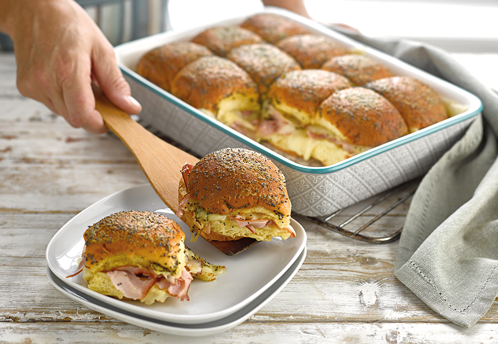 ham and cheese brioche sliders