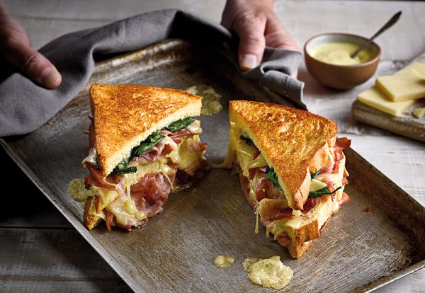 ham and cheese brioche toastie