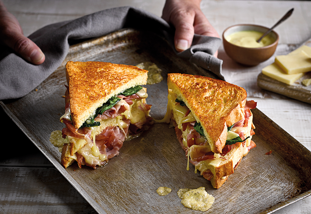 ham and cheese brioche toastie