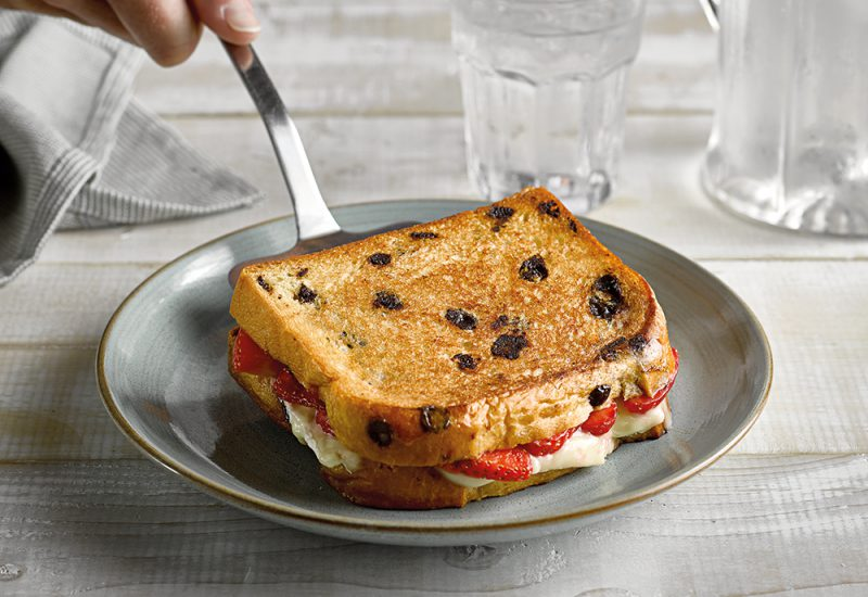 brie and strawberry brioche toastie