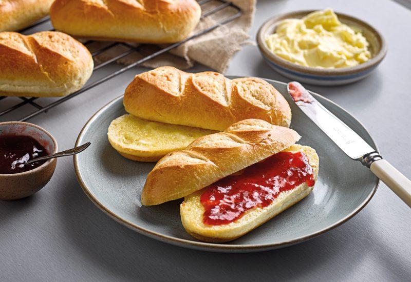 jam and cream brioche rolls