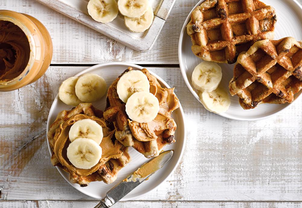 waffle peanut butter and banana